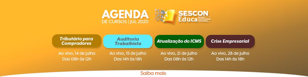 Agenda ATUALIZADA Julho - Site GF
